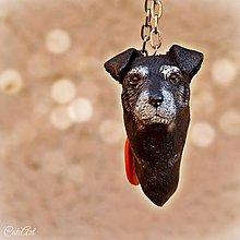 Kľúčenky - Nemecký teriér - prívesok podľa fotografie psa - 7509757_