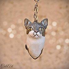 Kľúčenky - Mačka/kocúr - prívesok podľa fotografie - 7509876_