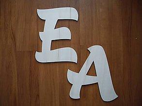 Polotovary - Drevené písmenká 20 cm - 7509500_