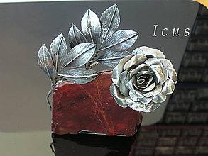 Socha - Dekorácia Opál - Ruža - 7505597_