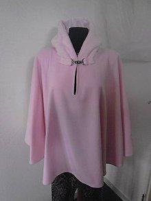 Kabáty - Ružová pelerína pončo cardigan Pink - 7510059_