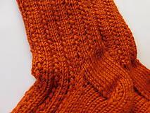 Obuv - Terakota - hrubé ponožky s dierkovaným vzorom (v.37-38) - 7506540_