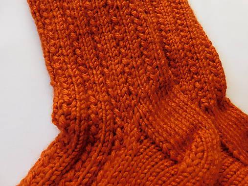 050777109 Terakota - hrubé ponožky s dierkovaným vzorom (v.37-38) / Eva64 ...