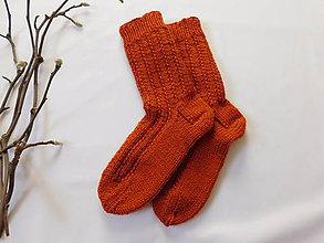 Obuv - Terakota - hrubé ponožky s dierkovaným vzorom (v.37-38) - 7506541_