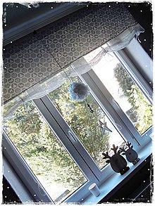 Úžitkový textil - Vianočná/zimná záclonka - 7506425_