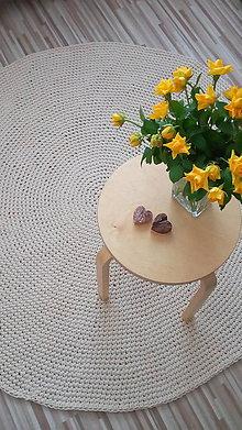 Úžitkový textil - Okrúhly koberec - natural - 7506764_