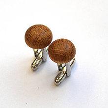 Šperky - Dubové vypuklé ďobky - 7507865_