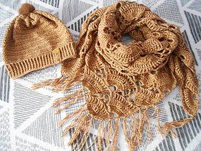 Čiapky - Dámska čiapka a šatka - 7506371_