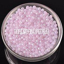 Korálky - Korálky - sklenené brúsené 4x3mm alabaster pink AB lesklé - 7512284_