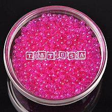 Korálky - Korálky - sklenené brúsené 6x4mm red-rose - 7513311_