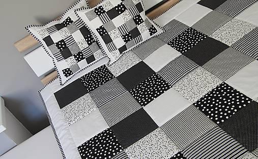 prehoz 220 x 220 cm  čierno - biela kombinácia