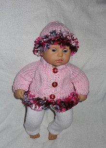 Hračky - svetrík s čiapočkou pre baby annabell 36 cm - 7512733_