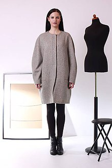 Kabáty - MIESTNy oversized kabát - 7516165_