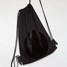 Batohy - Black velvet bag - 7516046_