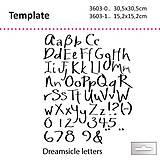 Pomôcky/Nástroje - Šablóna na maľovanie TCW Dreamsicle letters Písmo - 7514241_