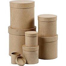Polotovary - Papierová krabica Kruh vysoká 14x15,2 cm - 7512388_