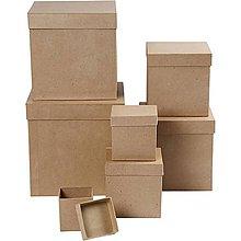 Polotovary - Papierová krabica Štvorec, kocka 18x18x18 cm - 7513810_