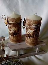 Svietidlá a sviečky - Sviečka Zima v lese - 7512458_
