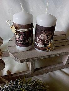Svietidlá a sviečky - Sviečky Anjeli - 7512393_