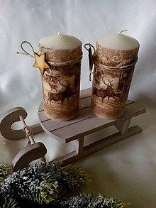 Svietidlá a sviečky - Sviečka Zima v lese - 7512457_