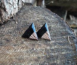 Náušnice - Trojuholníky 20 mm MINIMAL (bronz) - 7511513_