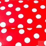 - veľké červené bodky, 100 % bavlna, šírka 140 cm, cena za 0,5 m - 7515544_