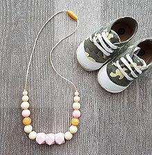 Náhrdelníky - Silikónový náhrdelník na kojenie