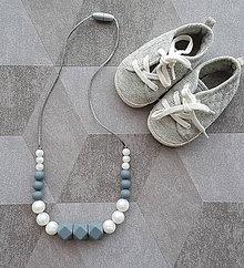 Detské doplnky - Silikónový náhrdelník vhodný aj na kúsanie pre deti
