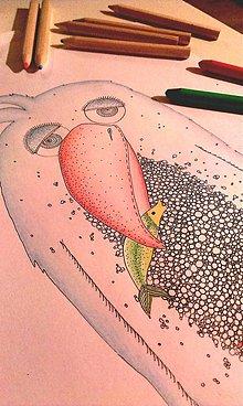 Kresby - Chytil som rybu vo farbe - 7516345_