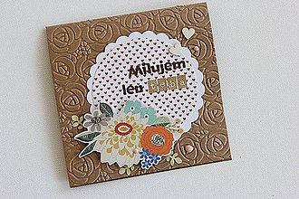 Papiernictvo - Pohľadnica - Milujem len teba - 7516228_