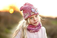 Detské čiapky - Cyklámenovoružová handspunka - 7510916_