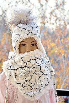 Detské súpravy - Zimný set cracked earth & fleece cream - 7510767_