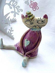 Dekorácie - mačka figúrka - 7512748_