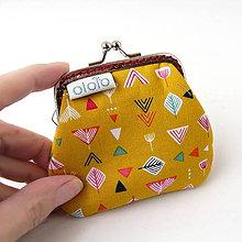 Peňaženky - Peňaženka mini Geometria na žltej - 7512242_