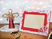 Rámiky - Vianočný fotorámček - 7515989_