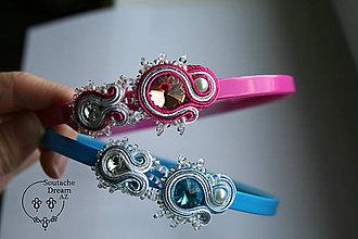 Iné šperky - Detská čelenka soutache - 7511592_