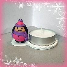 Svietidlá a sviečky - Svietniky na zákazku (guľkáč dievča) - 7515843_