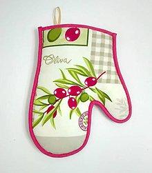 Úžitkový textil - chňapka Oliva - 7519888_