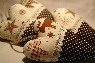 Dekorácie - Vianočné srdiečka - vidiecke s vôňou levandule - 7516558_