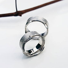 Prstene - Twig wedding bands - 7519901_
