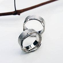 Prstene - Twig wedding bands - 7519901_