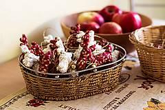 Dekorácie - Vianočný sobík červený - 7519277_