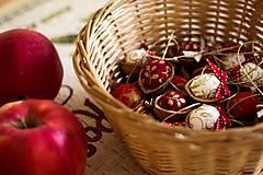 Dekorácie - Vianočný oriešok - červený I. - 7519396_