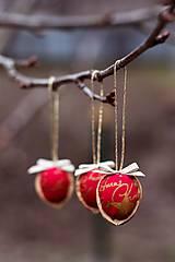 Dekorácie - Vianočný oriešok - červený I. - 7519398_