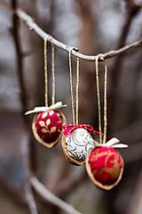 Dekorácie - Vianočný oriešok - biely - 7519429_