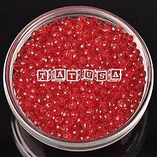 Korálky - Korálky sklenené brúsené 6x8mm - light siam - 7519649_