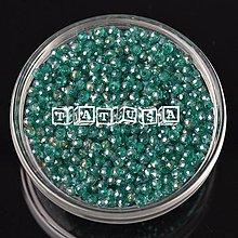 Korálky - Korálky-sklenené brúsené 6x4mm- emerald AB lesklé - 7519734_
