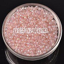 Korálky - Korálky- sklenené brúsené 6x4mm -peach AB - 7519786_