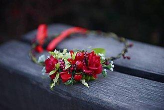 Ozdoby do vlasov - venček by michelle flowers - 7518112_