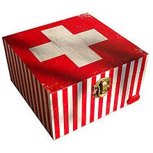 Krabičky - KRABICA HRANATÁ (KRABICA NA LIEKY/ LEKÁRNIČKA) - 7518107_